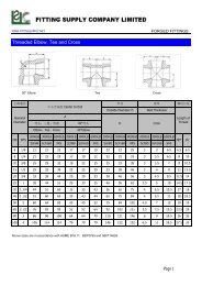 FORGING FITTINGS --- FITTING SUPPLY BROCHURE