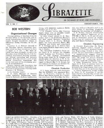 February, 1962 Librazette - Librascope Memories