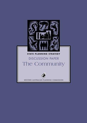 The Community - Western Australian Planning Commission