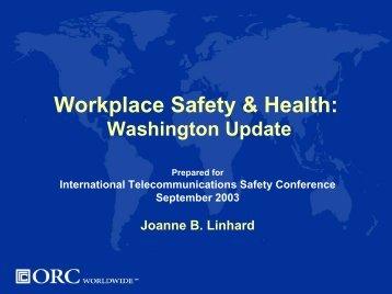 Hazard Communication - National Telecommunications Safety Panel