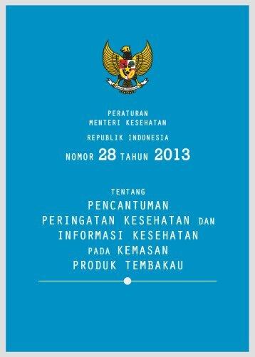 permenkes-no-28-tahun-2013 peringatan kesehatan