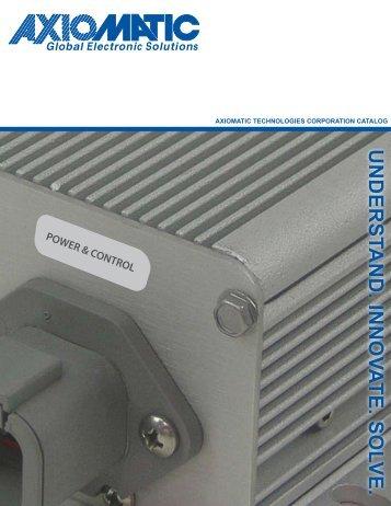 2009/2010 Catalog - Axiomatic Technologies Corp.