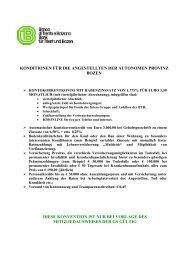 konditionen für die angestellten der autonomen provinz ... - Gs.bz.it
