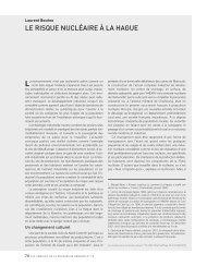 le risque nucléaire à la hague - Annales de la Recherche Urbaine