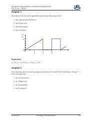 Aufgabe 2 - Fachgebiet Leistungselektronik und Elektrische ...