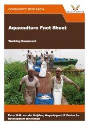 Download the aquaculture fact sheet - Seas of Change Initiative