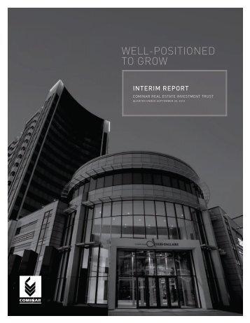 Quarterly Report - Cominar