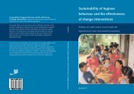 Sustainability of hygiene behaviour and the effectiveness of change ...