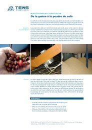 Industrie du café - TEWS Elektronik