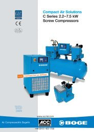 Compact Air Solutions C Series 2.2–7.5 kW Screw Compressors