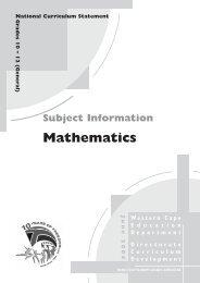 Mathematics - Curriculum Development