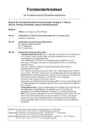 Referat d. 9. februar 2012 - Forstanderkredsen
