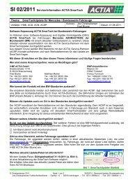 SI 02/2011 Service-Information ACTIA SmarTach Thema ...