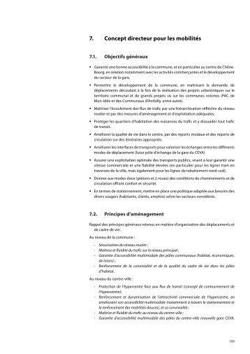 7. Concept directeur - volet mobilités - Etat de Genève