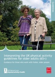 Interpreting the physical activity guidelines frailer, older people