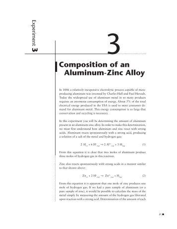 analysis of an aluminum zinc alloy Home / chemical composition and properties of aluminum alloys chemical composition and properties of aluminum alloys heat treatable alloys 7xxx zinc.