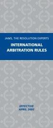 Download JAMS International Arbitration Rules in PDF Format