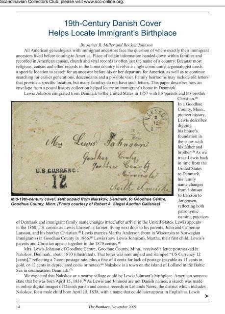 Helps Locate Immigrant S Birthplace Philatelic Genealogy
