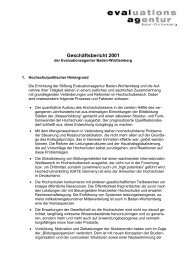 Geschäftsbericht 2001 - Die evalag