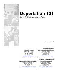 Southeast Regional Deportation 101, North Carolina - Families for ...