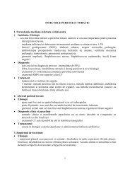 Infectii perete toracic - Spitalul Clinic Municipal de Urgenta Timisoara