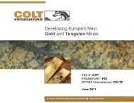 Colt Corporate Presentation (June 2011) - Colt Resources