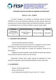 Edital 10-13 - processo externo de contabeis - FESP