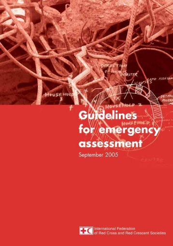 Guidelines for emergency assessment - watsanmissionassistant