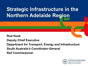 Strategic Infrastructure in the Northern Adelaide Region - UDIASA ...