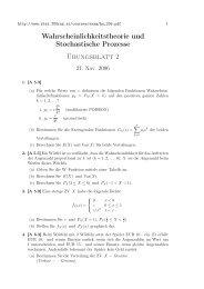 Wahrscheinlichkeitstheorie und Stochastische Prozesse Übungsblatt 2