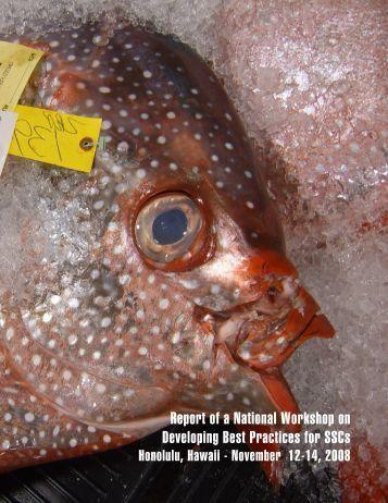 Workshop Report - US Regional Fishery Management Councils