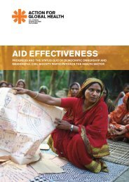AID EFFECTIVENESS - Action for Global Health
