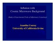 Study of Experimental Probe of Inflationary Cosmology
