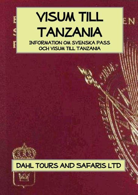 Information om visum till Tanzania och Zanzibar - Dahl Safaris
