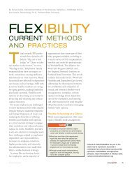 Flexibility: Current Methods and Practices - Alliance for Work-Life ...