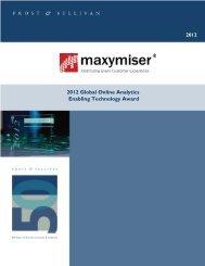 Read More - Maxymiser