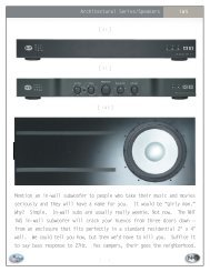 Mention an in-wall subwoofer to people who take their music ... - NHT
