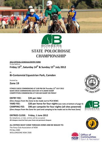 state polocrosse championship - Pony Club Association of NSW