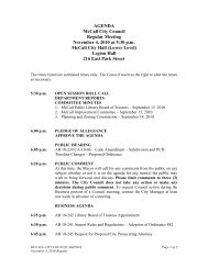 AGENDA McCall City Council Regular Meeting ... - The City of McCall