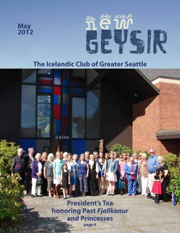 May 2012 The Icelandic Club of Greater Seattle President's Tea ...
