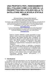 una proposta per l'insegnamento dell'italiano ... - Didamatica 2010