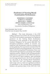 Predictors of Nursing Board Examination Performance - EISRJC