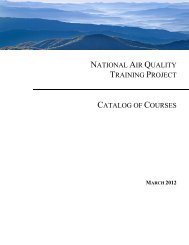 national air quality training project catalog of courses - MARAMA
