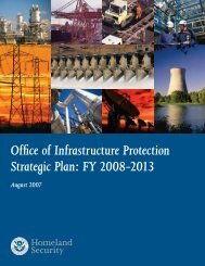 Office of Infrastructure Protection Strategic Plan: FY 2008-2013