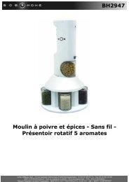 BH2947 Moulin à poivre et épices - Sans fil ... - BOB HOME
