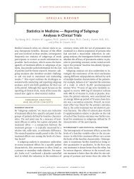 Statistics in Medicine — Reporting of Subgroup Analyses in Clinical ...