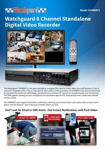Watchguard 8 Channel Standalone Digital Video Recorder
