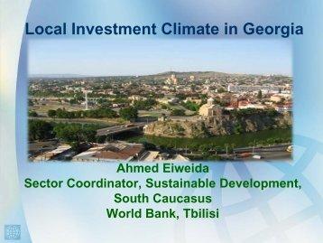Local Investment Climate in Georgia