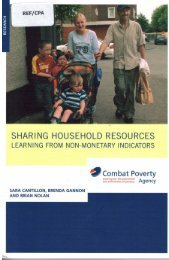 Sharing Household Resources - Combat Poverty Agency