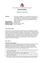 Job Description Director, South East Task Description Key Tasks